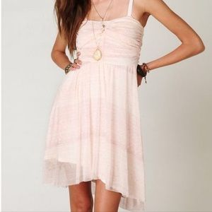 Free People Watercolor Pink Tube Dress Size Small